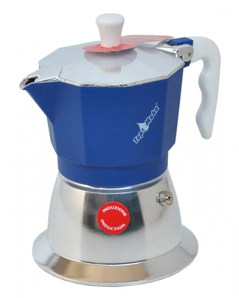 Top Moka Model Top 3 cups Induction Sinine